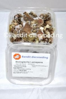 Bio gemalen Lamspens voor de hond  24 x 400 gram