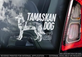 Tamaskan Dog 4 Hondensticker voor op de auto  Per Stuk