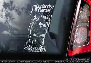 Laplandse Herder 1 Hondensticker voor op de auto  Per Stuk