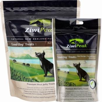 ZiwiPeak Good-Dog snacks van vers rundvlees  454 Gram