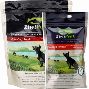 ZiwiPeak Good-Dog snacks van vers Hert  454 Gram