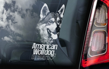 American Wolfdog Hondensticker voor op de auto  Per Stuk