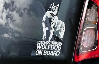 Tsjechoslowaakse Wolfhond 1  Hondensticker voor op de auto  Per Stuk