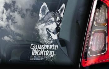Tsjechoslowaakse Wolfhond 2  Hondensticker voor op de auto  Per Stuk