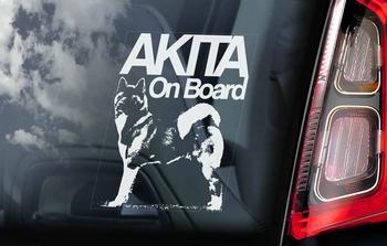 Amerikaanse Akita Inu 1  Hondensticker voor op de auto  Per Stuk