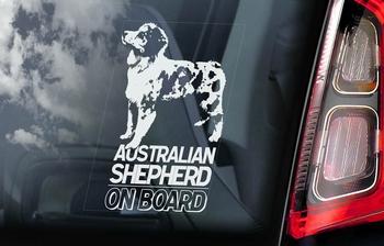 Australian Shepherd Dog 1 Hondensticker voor op de auto  Per Stuk