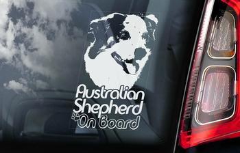 Australian Shepherd Dog 2 Hondensticker voor op de auto  Per Stuk