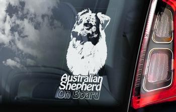 Australian Shepherd Dog 4 Hondensticker voor op de auto  Per Stuk