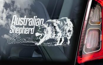 Australian Shepherd Dog 5 Hondensticker voor op de auto  Per Stuk