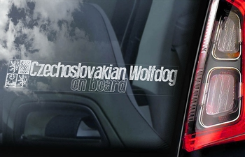 Tsjechoslowaakse Wolfhond 3  Hondensticker voor op de auto  Per Stuk