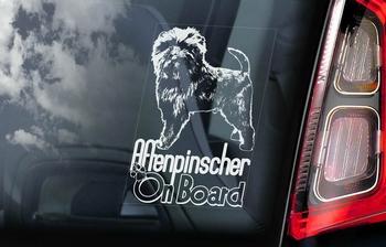 Affenpinscher Hondensticker voor op de auto  Per Stuk