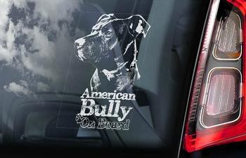 American Bully 2 Hondensticker voor op de auto  Per Stuk