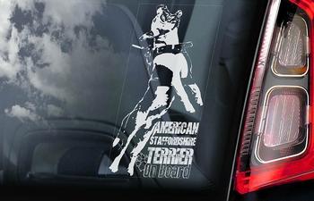 American Staffordshire Terrier 9 sticker voor op de auto  Per Stuk