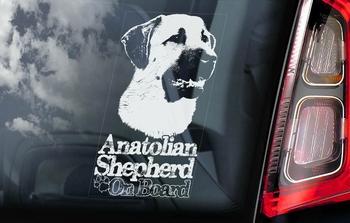 Anatolische Herder Hondensticker voor op de auto  Per Stuk