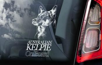 Australian Kelpie Hondensticker voor op de auto  Per Stuk