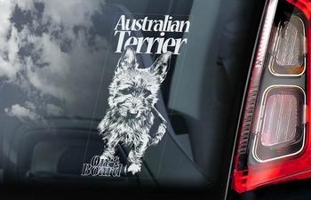 Australian Terrier 1  Hondensticker voor op de auto  Per Stuk
