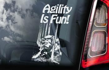 Agility is fun Hondensticker voor op de auto  Per Stuk