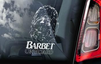 Barbet Hondensticker voor op de auto  Per Stuk