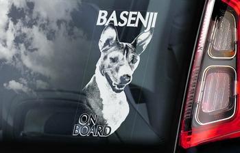 Basenji 1 Hondensticker voor op de auto  Per Stuk