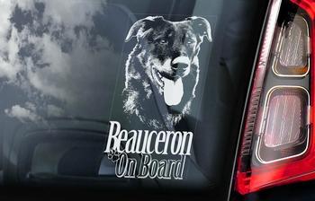 Beauceron Hondensticker voor op de auto  Per Stuk