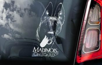Belgian Malinois 5 Hondensticker voor op de auto  Per Stuk