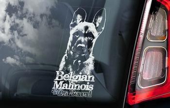 Belgian Malinois 9 Hondensticker voor op de auto  Per Stuk