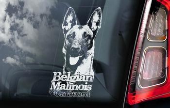 Belgian Malinois 10 Hondensticker voor op de auto  Per Stuk