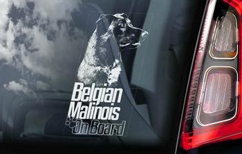Belgian Malinois 11 Hondensticker voor op de auto  Per Stuk