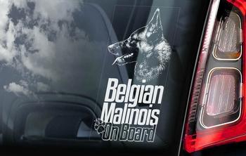 Belgian Malinois 13 Hondensticker voor op de auto  Per Stuk