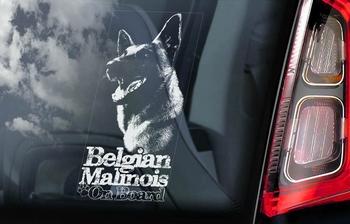 Belgian Malinois 14 Hondensticker voor op de auto  Per Stuk