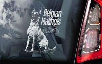 Belgian Malinois 15 Hondensticker voor op de auto  Per Stuk