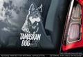 Tamaskan Dog 2 Hondensticker voor op de auto Per Stuk