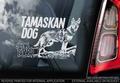 Tamaskan Dog 5 Hondensticker voor op de auto Per Stuk