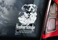 Kooiker Hondensticker voor op de auto Per Stuk