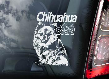 Chihuahua 2 Hondensticker voor op de auto Per Stuk