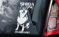Shiba Inu 1 Hondensticker voor op de auto Per Stuk