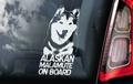 Alaskan Malamute Hondensticker voor op de auto Per Stuk