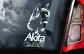 Amerikaanse Akita Inu 4  Hondensticker voor op de auto Per Stuk