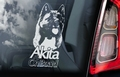 Amerikaanse Akita Inu 5  Hondensticker voor op de auto Per Stuk