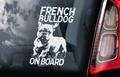 Franse Bulldog 1 Hondensticker voor op de auto Per Stuk