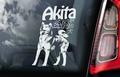 Japanse Akita Inu  Hondensticker voor op de auto Per Stuk