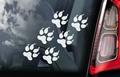 Hondenpootjes 1  Hondensticker voor op de auto Per Stuk