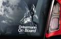 Dobermann 1 Hondensticker voor op de auto Per Stuk