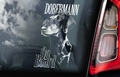 Dobermann 2 Hondensticker voor op de auto Per Stuk