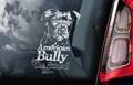 American Bully 1 Hondensticker voor op de auto Per Stuk