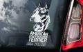 American Staffordshire Terrier 1 sticker voor op de auto Per Stuk