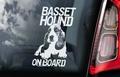 Basset Hound 1 Hondensticker voor op de auto Per Stuk