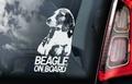 Beagle 1 Hondensticker voor op de auto Per Stuk