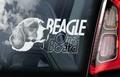 Beagle 2 Hondensticker voor op de auto Per Stuk