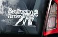 Bedlington Terrier 2 Hondensticker voor op de auto Per Stuk